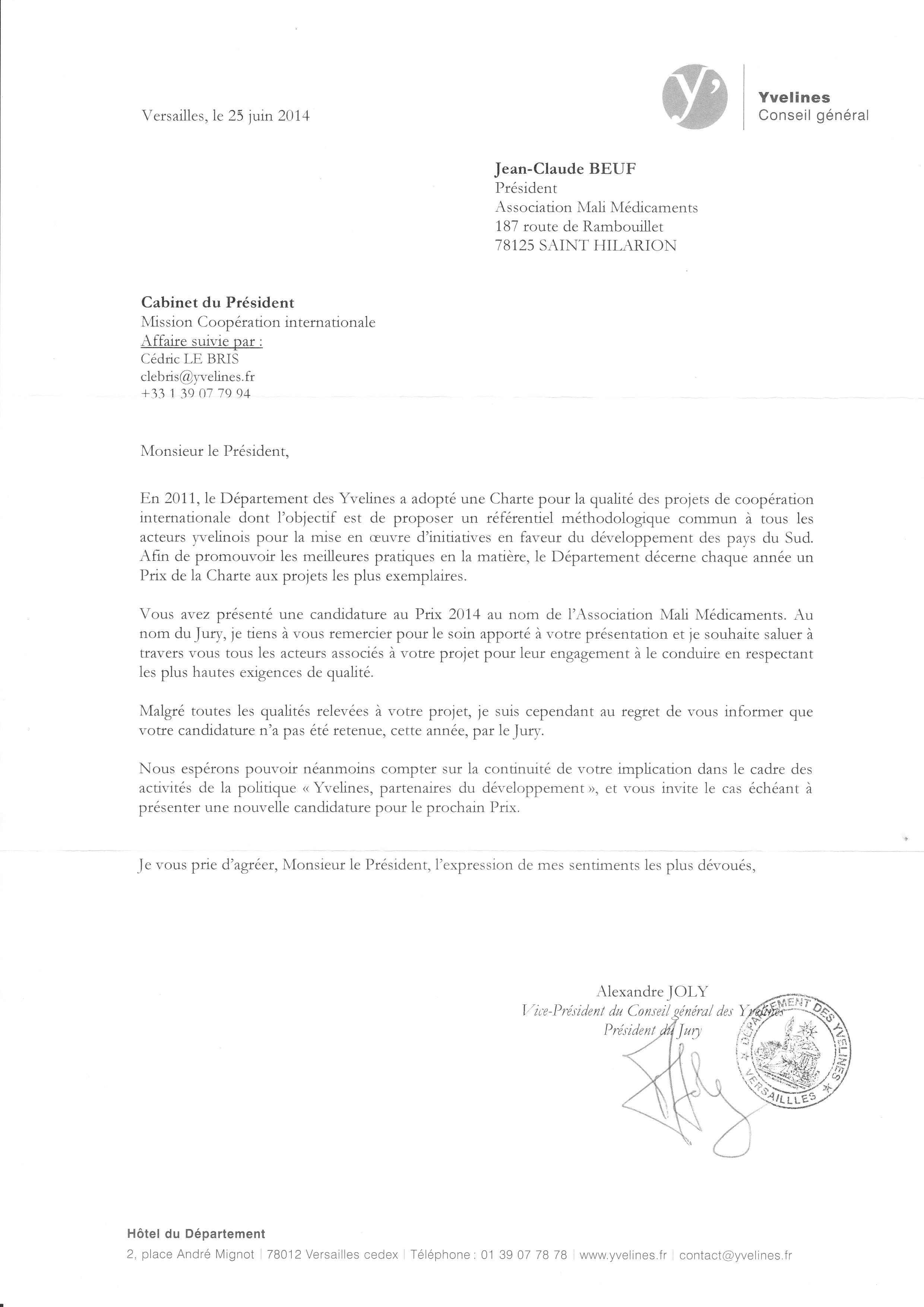 prix de la charte pour la qualit u00e9 des projets de